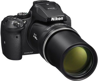 Nikon Coolpix P900 16.0MP Point and Shoot Camera (Black) with 83x Optical Zoom , Built-In Wi-Fi,HDMI Cable,16GB Card And Camera Bag Point and Shoot Camera(16 MP, 83x Optical Zoom, 4x Digital Zoom, Black)  available at flipkart for Rs.34950
