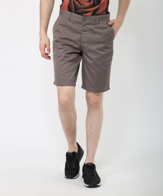 Metronaut Solid Men's Grey Basic Shorts