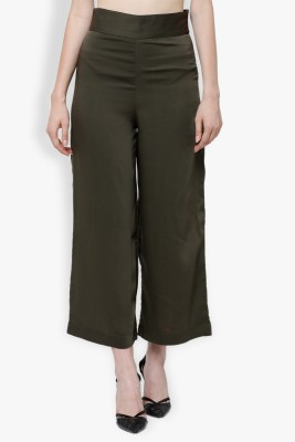 Tokyo Talkies Regular Fit Women Green Trousers at flipkart
