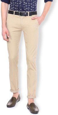 Van Heusen Slim Fit Men Beige Trousers at flipkart