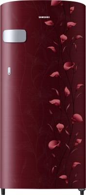 Samsung 192 L Direct Cool Single Door 2 Star  2019  Refrigerator Tender Lily Red, RR19N1Y12RZ HL/ RR19R2Y12RZ NL