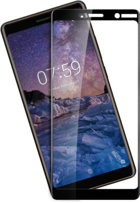 onlinecart Edge To Edge Tempered Glass for Nokia 7 Plus(Pack of 1)