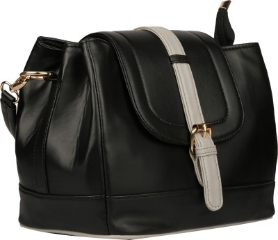 bagesi Women Casual, Formal, Sports Black PU Sling Bag