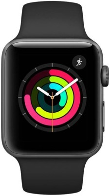 Apple Watch Series 3 GPS - 38 mm Space Grey Aluminium Case with Black Sport Band(Black Strap Regular)