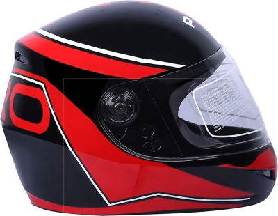 AutoVHPR Presents O2 Black with Red Designer Full Face I S I Certified Helmet Motorbike Helmet(Red, Black)