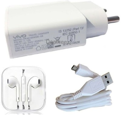 Vivo Wall Charger Accessory Combo for Vivo Y11,Vivo V5 Plus, V9, Vivo V5, Vivo V1, Vivo V1 max Vivo V3 max, Vivo V5s, Vivo Y53, Vivo Y21, Vivo V3, Vivo Y15, Vivo Y31L(White)
