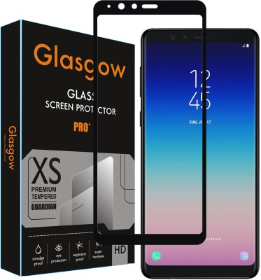 Glasgow Edge To Edge Tempered Glass for Samsung Galaxy A8 Star(Pack of 1)