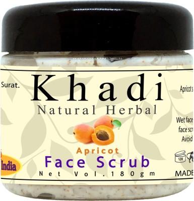 Khadi Natural Herbal Tan Removal Apricot Face Scrub for All Skin Type Scrub(150 g) 1