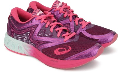 Asics NOOSA FF Running Shoes For Women(Purple, Pink) at flipkart