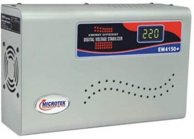 Microtek EM4150+ 150 280V Digital Voltage Stabilizer  Metallic Grey  Voltage Stabilizer