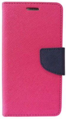 Coverage Flip Cover for Samsung Galaxy J7 Prime Pink Coverage Plain Cases   Covers