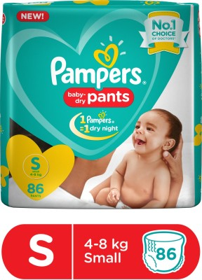 Pampers Baby-Dry Pants Diaper - S(86 Pieces)