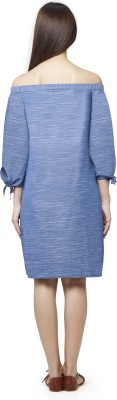 AND Women A-line Blue Dress