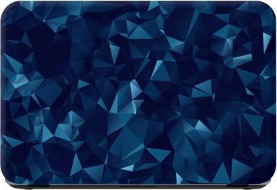 Flipkart SmartBuy blue geometry Premium LG Vinyl (matte) Laptop Decal 15.6