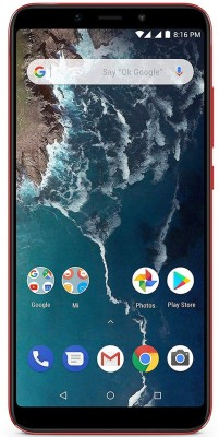 Mi A2 (Red, 64 GB)(4 GB RAM)