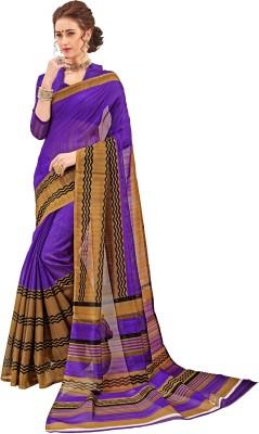 The Fashion Outlets Printed Bhagalpuri Silk Saree(Purple) Flipkart