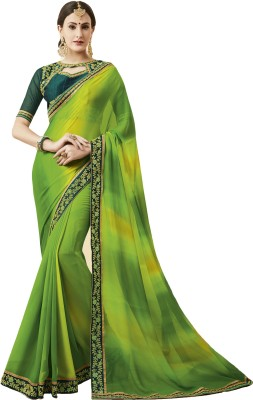 Maruti Creation Embroidered Bollywood Georgette Saree(Green)