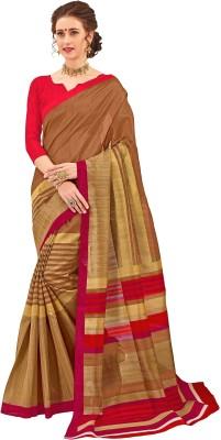 The Fashion Outlets Printed Bhagalpuri Silk Saree(Brown) Flipkart