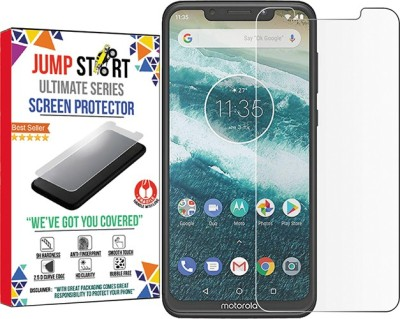 THE JUMP START STORE Tempered Glass Guard for Moto One Power, 1 Power(Crystal Tempered)(2.5d Arc Edge Screen Protector)