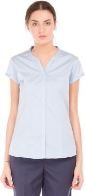 Arrow Women Solid Formal Blue Shirt