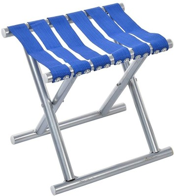 IRIS Foldable Stool For Travelling, Camping, Car, Lawn and Home Outdoor & Cafeteria Stool(Blue, Assembled)