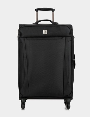 U.S. Polo Assn USZS0002 Expandable  Check-in Luggage - 24 inch(Black) at flipkart