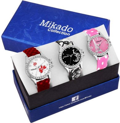 Mikado Blue Alice New Analog watches combo For Girls And Women Watch  - For Women
