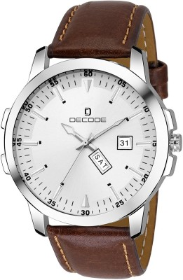 Decode Matrix collection Day Date White Brown DCE049 Analog Watch   For Men Decode Wrist Watches