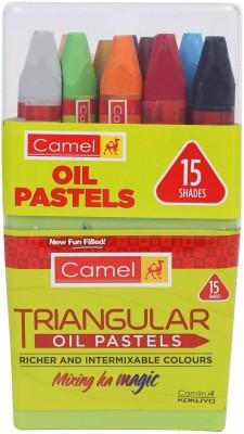 Camel Triangular Oil Pastels 15 Shades