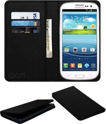 ACM Flip Cover for Samsung Galaxy S3 Neo I9300i(Black, Cases with Holder, Artificial Leather)