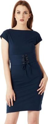 Miss Chase Women Sheath Blue Dress