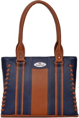 FD Fashion Shoulder Bag(Blue, Tan)