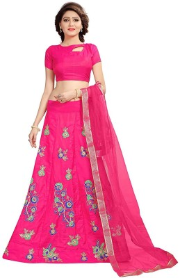 shoryam fashion Embroidered Semi Stitched Lehenga Choli(Pink) Flipkart