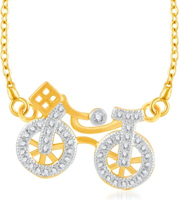 VK Jewels Cycle of Life Gold-plated Cubic Zirconia Brass, Alloy Pendant