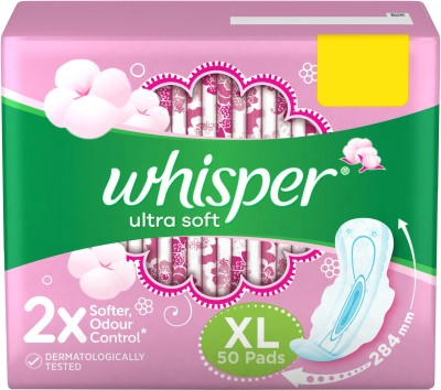 Whisper Ultra Soft XL Sanitary Pad  (Pack of 50)