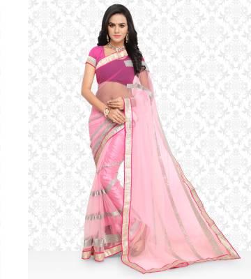 Divastri Floral Print Fashion Net Saree