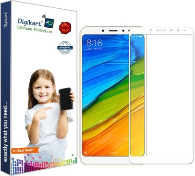 DIGIKART Edge To Edge Tempered Glass for Redmi Note 5 Pro Mobile Screen Protector Guard Full Glue Premium White Tempered Glass For Redmi Note 5 Pro(Pack of 1)