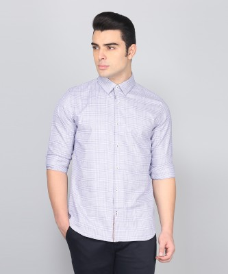 United Colors of Benetton Men Checkered Casual Blue Shirt at flipkart