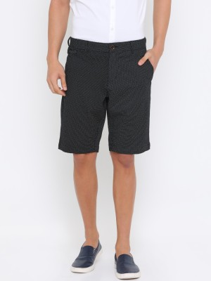 Showoff Printed Men's Black Cargo Shorts