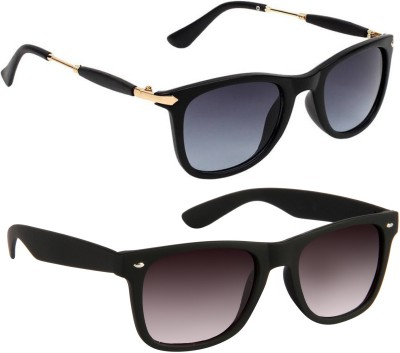 Gansta Wayfarer Sunglasses(Blue, Brown)