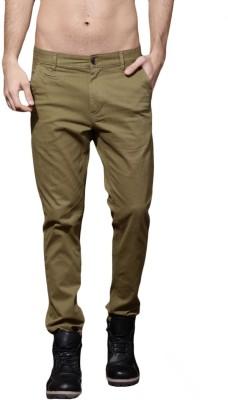 Roadster Regular Fit Men Brown Trousers