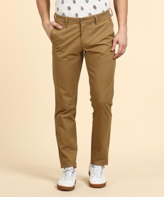 Van Heusen Regular Fit Men Brown Trousers