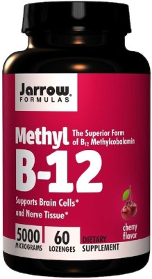 Jarrow Formulas Jarrow Formulas, Methyl B-12, Cherry Flavor, 5000 mcg,(60 No)