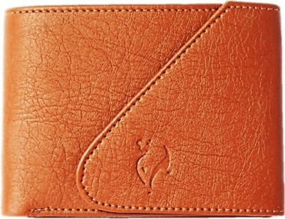 Men Tan Artificial Leather Wallet