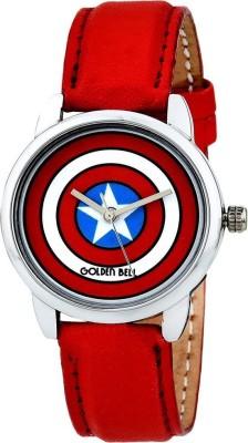 Golden Bell 008GBK Captain America Analog Watch For Boys