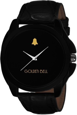 Golden Bell 0891GB Original Black Dial Black Strap Analog Wrist Watch for Men - GB-891 Watch  - For Men