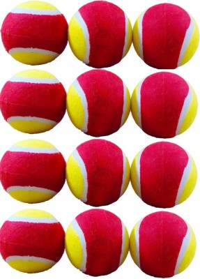 DashStore Eco Cricket Tennis Ball Pack of 12, Multicolor DashStore Cricket Balls