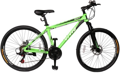 Vivid Bravo Alloy Disc Brakes & Suspention Bike For Adults Green&Black 26 T 21 Gear Mountain/Hardtail Cycle(Multicolor)