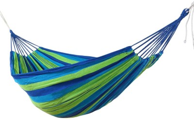 P-PLUS INTERNATIONAL Outdoor Hang Bed Camping Cotton Small Swing(Blue, DIY(Do-It-Yourself))