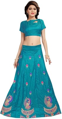 shoryam fashion Embroidered Semi Stitched Lehenga Choli(Multicolor) Flipkart